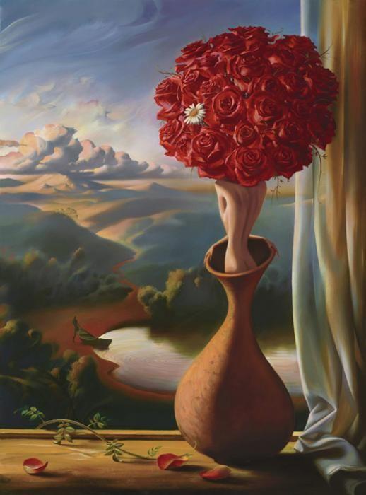 #vladimirkush #art #painting #arta #pictura #floare