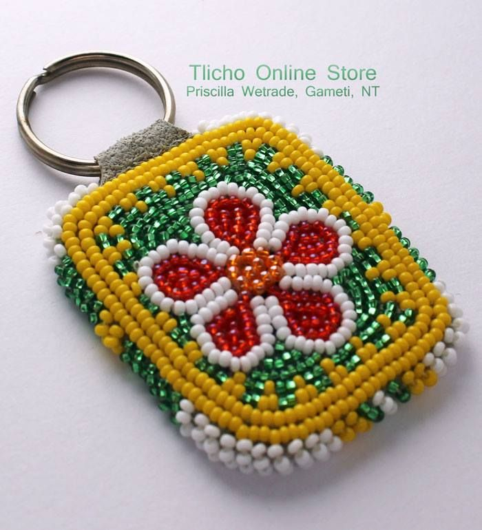 Tlicho Online Store Flower Key Chain by Priscilla Wetrade from Gameti, NT