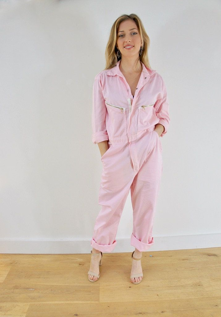 728d0ac9b399 Boiler Suit - pastel pink - can offer MOST sizes. Please email me!
