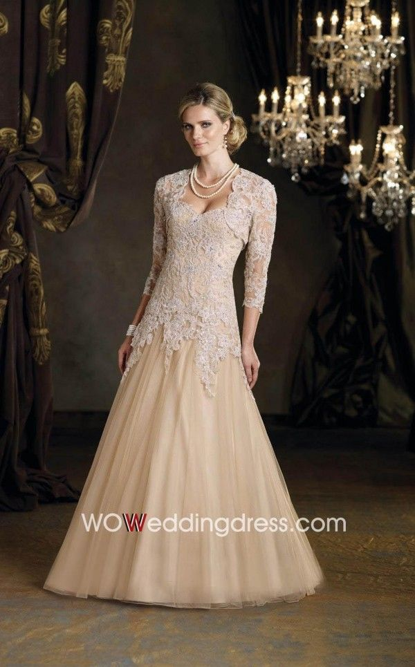 Graceful Lace Sweetheart Drop Waist Mother Of The Bride Dress