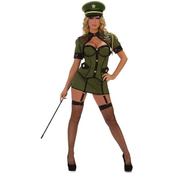 Army General Deluxe Sexy Womens Costume ($94) ❤ liked on Polyvore featuring costumes, halloween costumes, multicolor, womens army costume, sexy women halloween costumes, army halloween costumes, ladies costumes and army costumes