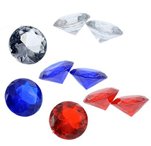 Patriotic Acrylic Gems For Vase Fillers Table Scatter Decoration 180