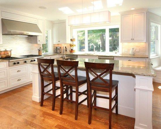 キッチン 17 Chestnut Street Winchester MA U型レイアウト - アイランド1 カントリー インテリア インテリア実例