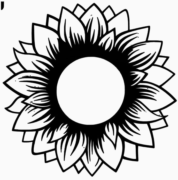 Sunflower (With images) | Silhouette crafts, Silhouette ...