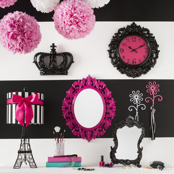 Say bonjour to fabulous style and designs with pink and for Pink and black bathroom decor