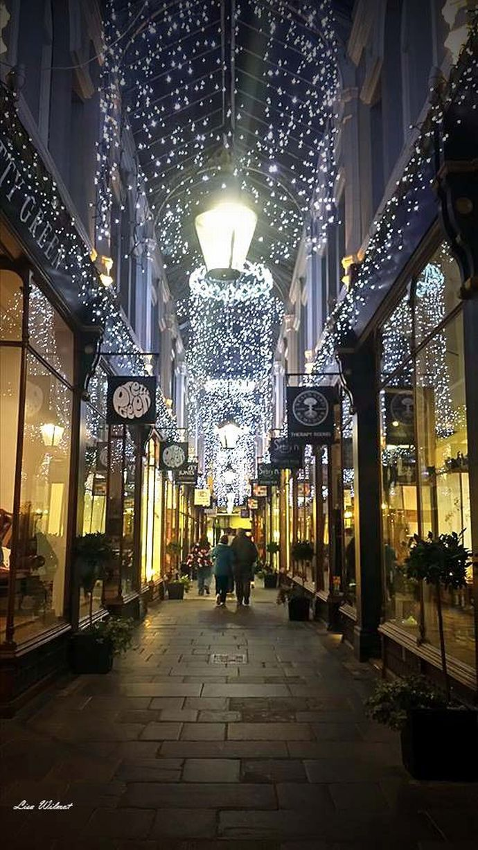 A beautifully festive Morgan Arcade, Cardiff City centre, South Wales, UK - 2014 - Lisa Wilmot