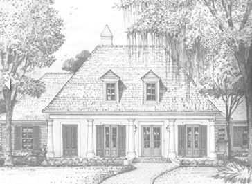 Southern french country style house plans