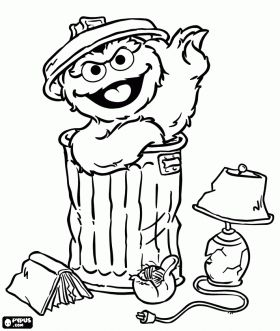 coloring pages oscar the grouch - photo#5