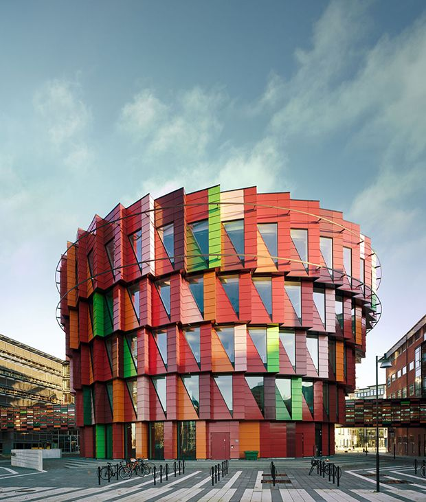 Arquitetura colorida: Kuggen é um edifício sustentável em Gotemburgo na Suécia.