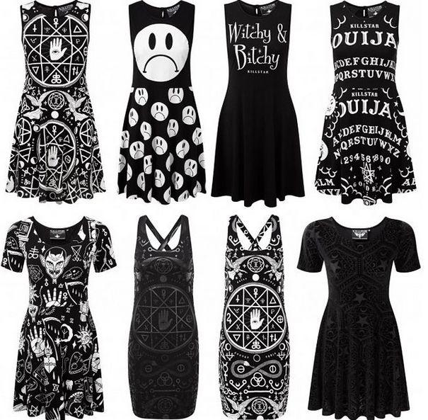 New dresses by Killstar available now... ATTITUDECLOTHING.CO.UK   We ship worldwide #killstar #dress #skaterdress #witch #occult #blackandwhite #ouija #wicked #printeddress #alternativefashion #alternativeclothing #gothfashion #gothicclothing #darkfashion #gothic #goth #nugoth #pastelgoth #creepycute #AttitudeClothing