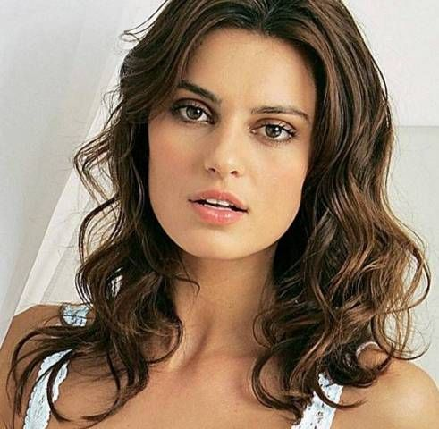 nice Catrinel Menghia Curly Medium Hairsyle