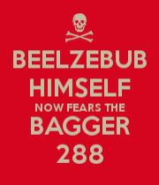BEELZEBUB HIMSELF NOW FEARS THE BAGGER 288 mens t shirts.