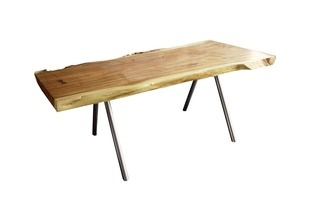 four pin live edge dining table...oooh love!