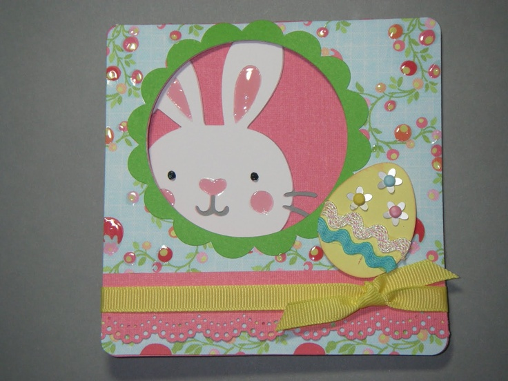 Cricut Card Making Ideas Part - 28: CUTE EASTER CARD