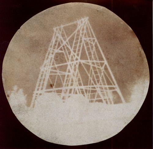John Herschel - View of the telescope at Slough,1839