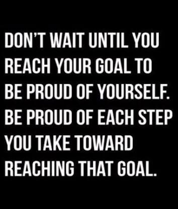 Be proud of every healthy choice you make working to create your healthy lifestyle! #goals #healthylifestyle #lovinglifejourney #fitlife