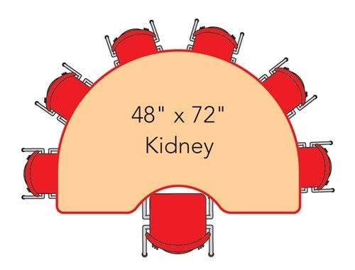 Virco Kidney-shaped 48x72 Activity Table | Kids Activity Tables ...