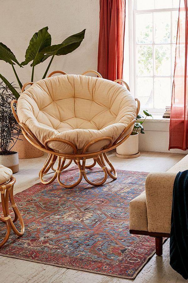 Flora Rattan Papasan Chair With Images Cozy Chair Papasan