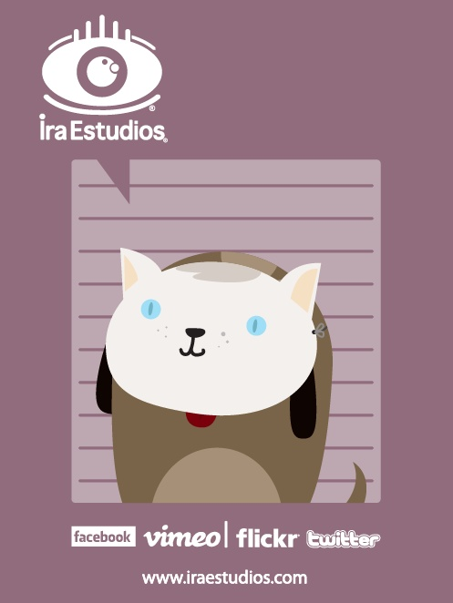 Perro hipster.