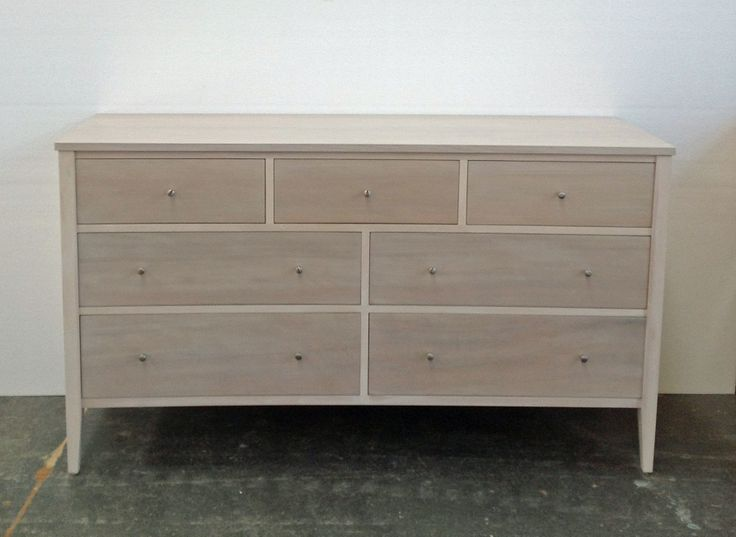 Rose and Heather Newport 7 drawer in whitewash