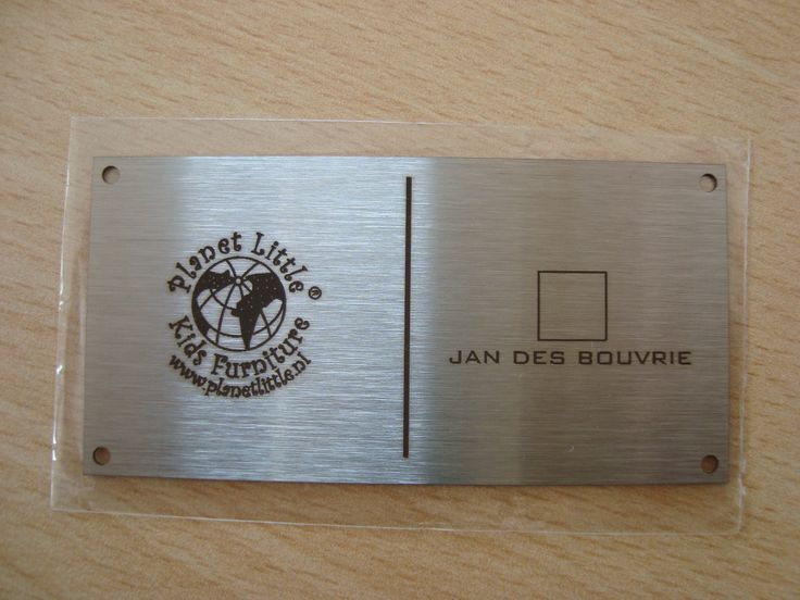 Our mutual metal brand plate / logo designed by Jan des Bouvrie. www.jandesbouvrie.nl