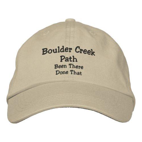 2444828d Boulder Creek Path Colorado Embroidered Baseball Cap | Zazzle.com in ...