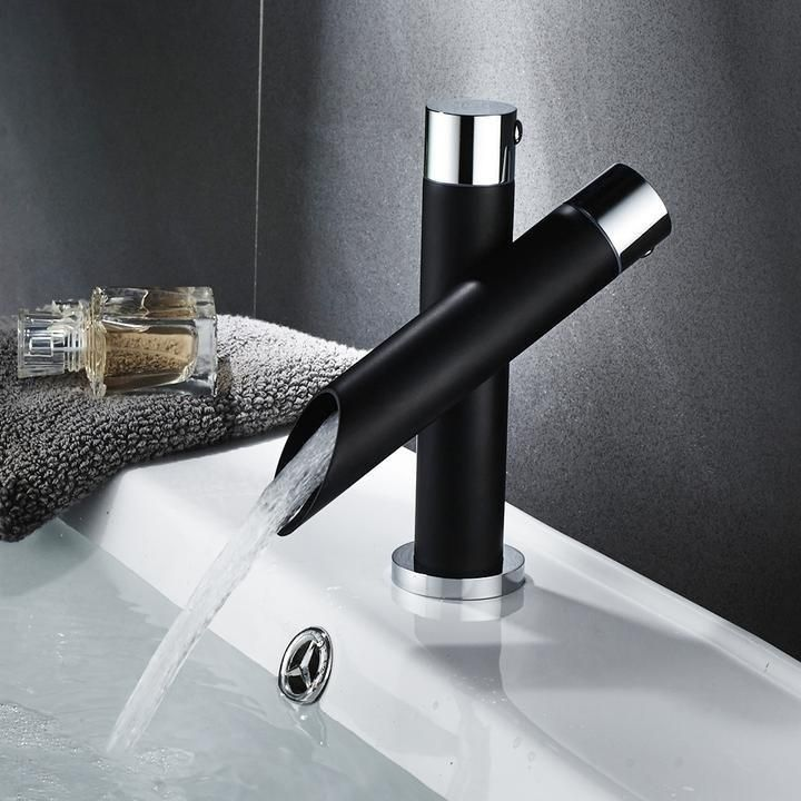 Modern Unique Bathroom Basin Faucet Single Handle Kitchen Sink Mixer Tap Waterfall Faucet Black Faucets From Furniture Home Improvement On Banggood Com Sink Mixer Taps Faucet Basin