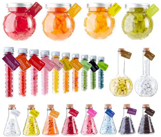 Wish they were somewhere other than Australia, my daughter would love this candy store.  Test tubes, beakers, and other science-y dodads pose as candy containers, while the employees wear lab coats.