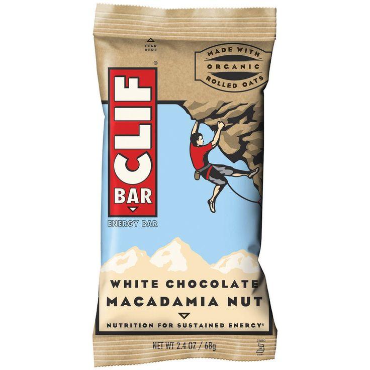 Clif Bar Energy Bar, White Chocolate Macadamia Nut, 2.4 Oz (Pack of 12)