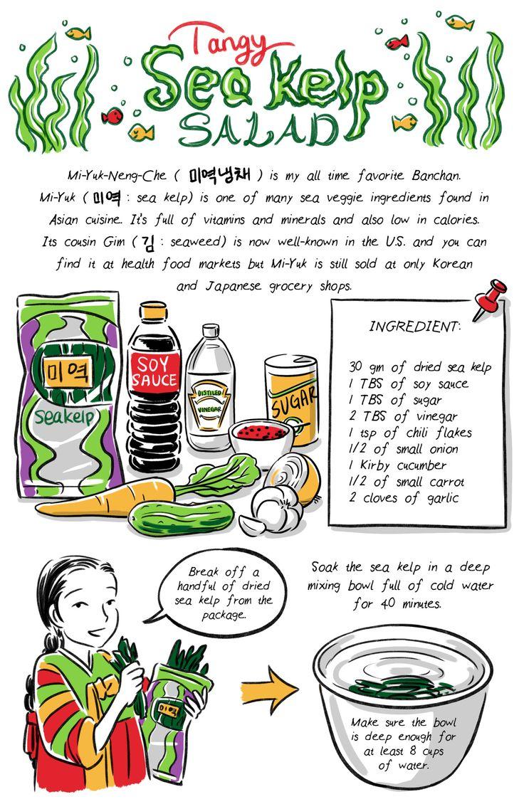 Robin Ha's Korean recipe comics.  banchancomic: