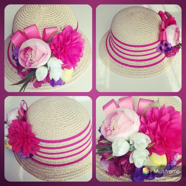 Bag , şapka , süslü , kokoş , tasarım , çiçekli, bebek , çocuk , hasır sapka