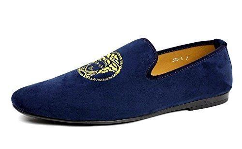Oferta: 28.22€. Comprar Ofertas de Hombre Azul Marino Sin Cordones Diseño Italiano Mocasines Conducción Zapatos Casual mocasin - Azul Marino, 6 UK / 40 EU barato. ¡Mira las ofertas!