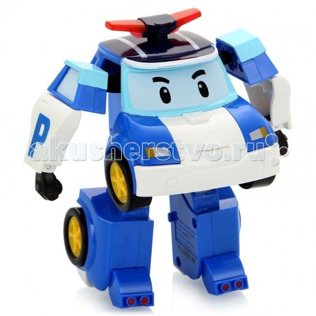 Robocar Poli Робот Поли на радиоуправлении 31 см  Robocar Poli Робот Поли на радиоуправлении – очень красивая полицейская машинка, которая легко перевоплощается в робота. Двигается вперед и назад, влево и вправо. Также с пульта активируются мигалки (свет) и звук сирены. Управляется в форме робота.  Особенности: Руки и ноги подвижны. И это еще не все! Шагающий Поли может танцевать! А еще ты можешь сделать запись с пульта управления и робот воспроизведет запись при движении! Мальчикам нравятся…