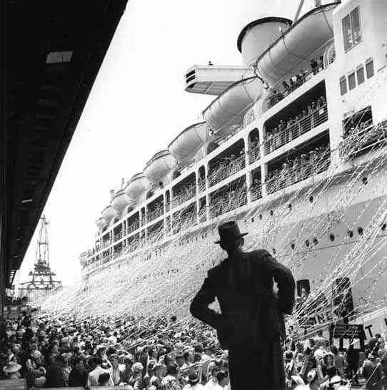 Orcades departure, Pyrmont, Sydney – c. 1948
