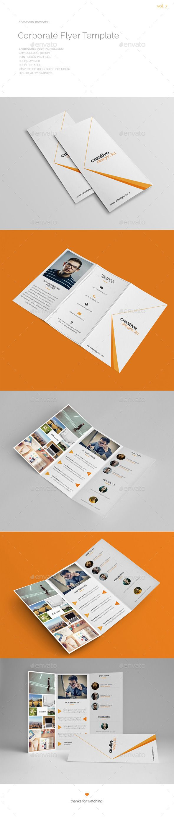 Corporate Trifold Template V.6