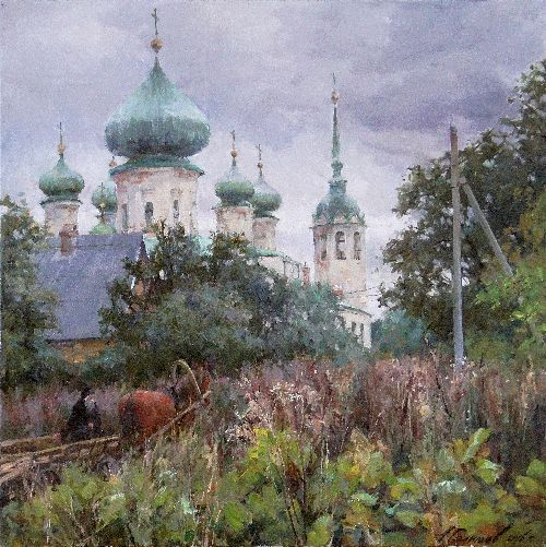 Painting Galimov Azat. Russian Road song. The Old Ladoga.