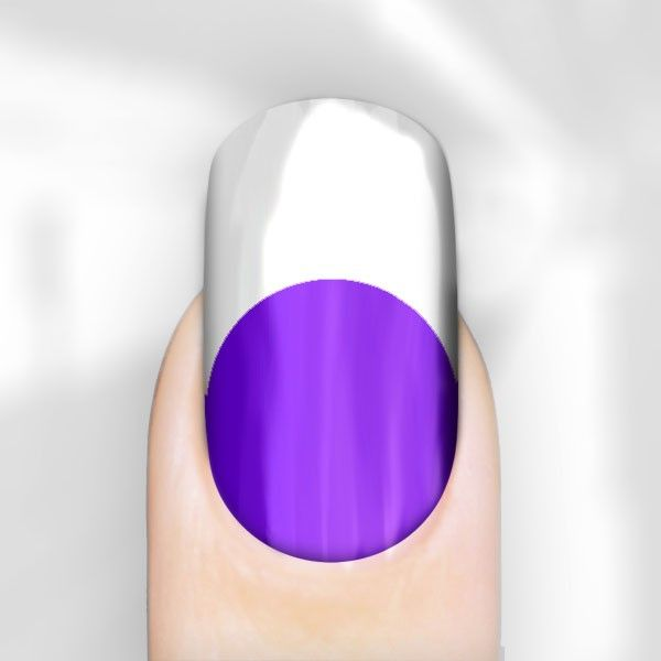 Purple With White Tips