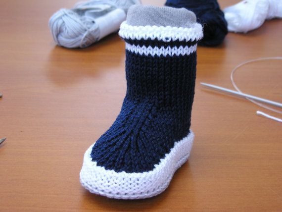 tuto chausson bébé au tricot by Magshoes on Etsy