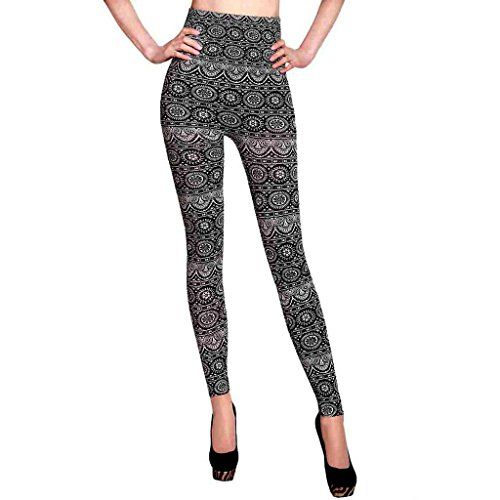 Azteca High Waisted Ladies Leggings Azteca WhiteBlack One Size *** Find out more at the image link.