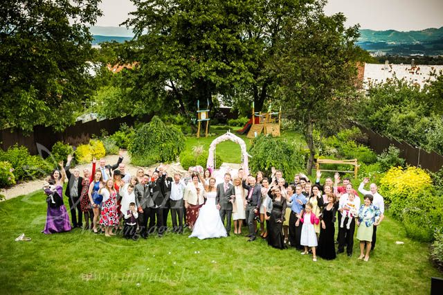 Beautiful #garden #wedding in Bojnice, Slovakia, May 2014. Funny ushers joking with the ceremony rings :) what makes great atmosphere straight forward. Perfect party with UK DJ and lovely pink decoration.