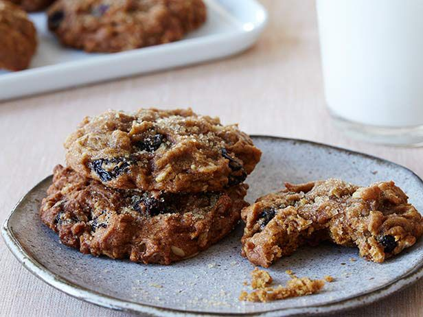 Spiced Pumpkin-Raisin Cookies from FoodNetwork.com | about 75 calories per cookie, but by using applesauce instead of oil, that drops the calorie count by 20 for each cookie.
