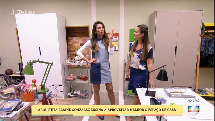 """Arquiteta Elaine Gonzalez ensina a aproveitar melhor o espaço de casa no programa """"É de Casa"""" da Rede Globo, confira o vídeo completo >>> https://glo.bo/2qXRxyX"""