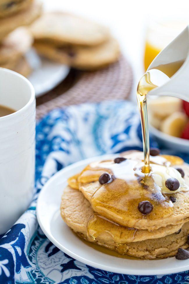VEGAN WHOLE WHEAT CHOCOLATE CHIP PANCAKES | BREAKFAST | HEALTHY RECIPE | BRUNCH | PANCAKES | KID-FRIENDLY
