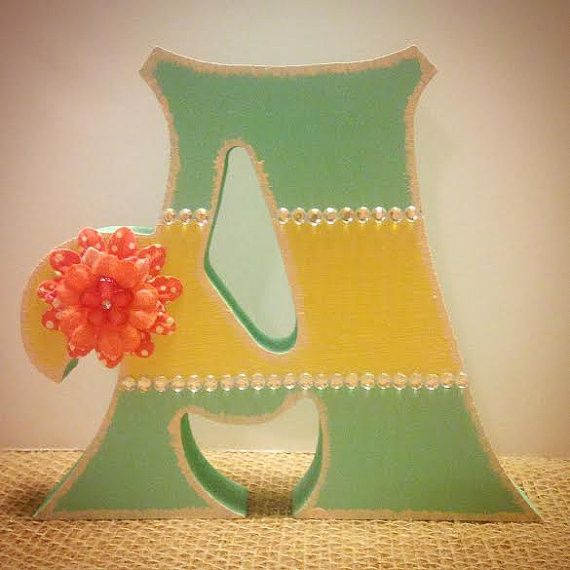 Free Standing Wood Letters-Girls Nursery-Shabby Chic-Decor