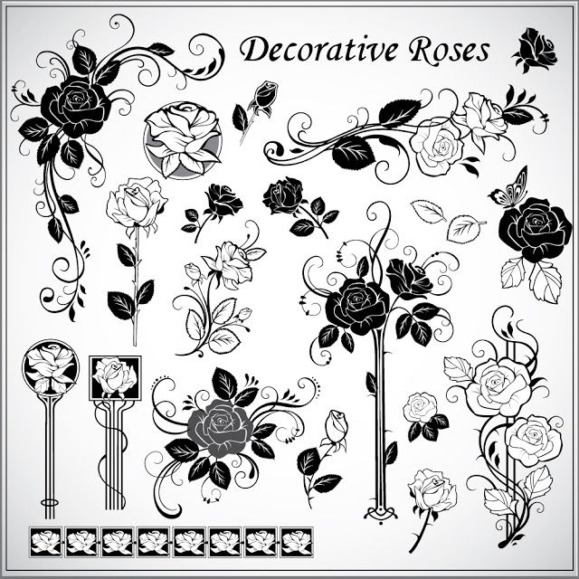Awesome decorative rose pattern Free vector  #cnc #cncrouter #stl #artcam #3design #carved #mirror #frame #3d #3dmodel #ZBrush #3dsMax #art #sculpture #modeling