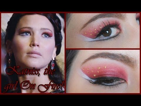 Katniss, The Girl on Fire! - The Hunger Games: Catching Fire Teaser Trailer Make Up Tutorial