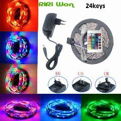 [ 24% OFF ] 5M 10M Rgb Led Strip Light Smd 3014 Dc12V Waterproof Led Rgb Lighting Fita Led Ribbon Tape Bar Neon Tiras Led Striscia Eu/uk/us