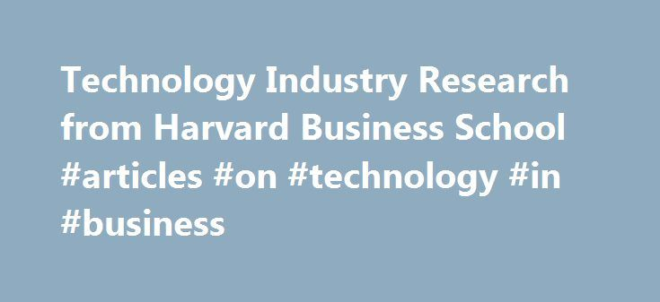 harvard business articles