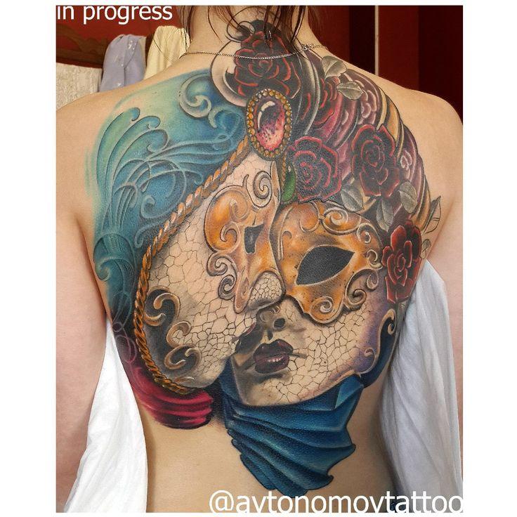 @aavtonomov @avtonomovtattoo #avtonomovtattoo #tattoo #33tattoo #tattooVladimir #33region #Vladimir 2014 Долгострой , в процессе с весны. Что то свежее, а что то уже успело загореть. Продолжение следует. Исходник переделанная фотка + пара добавлений от себя.