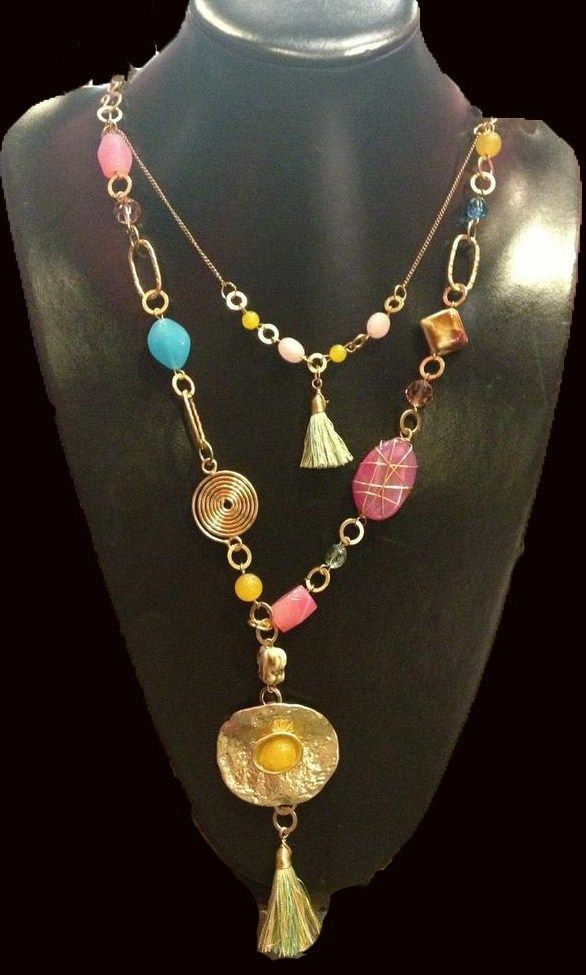 16 best images about collares de moda fashion necklace for Piedras naturales